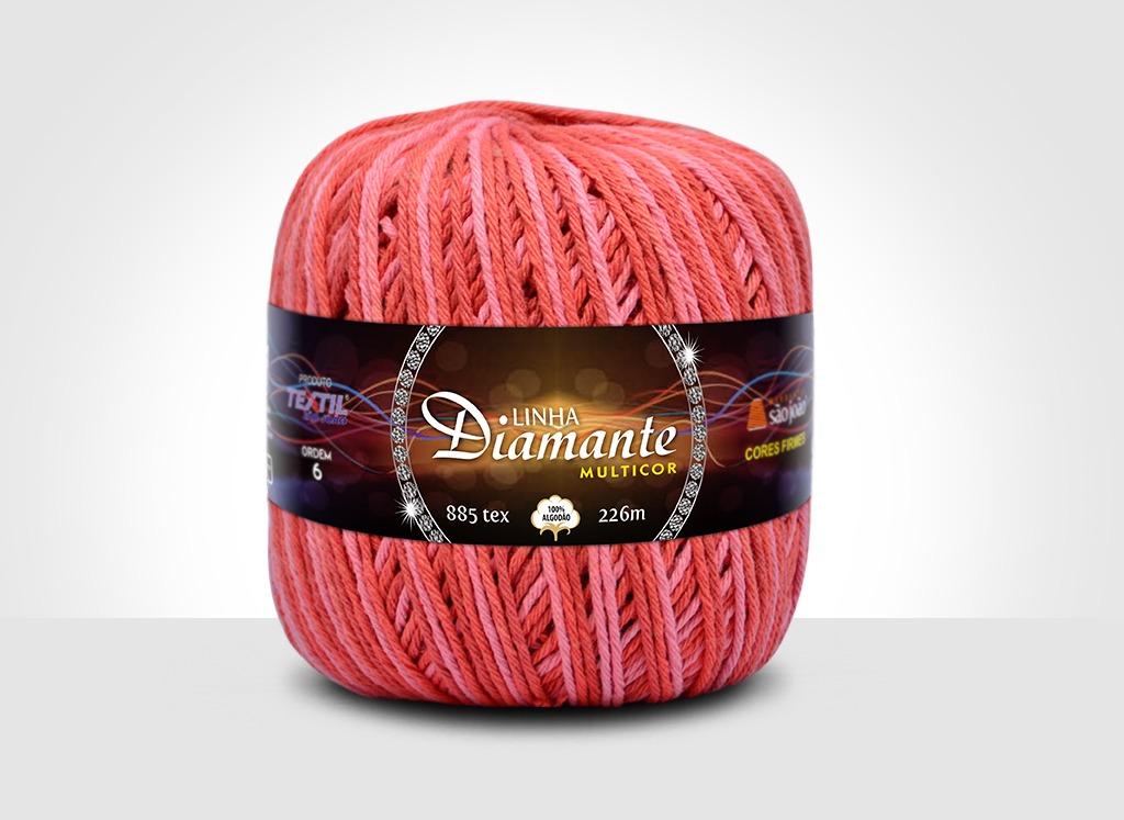 Barbantes para tricô e crochê Linha Diamante Multicor 2