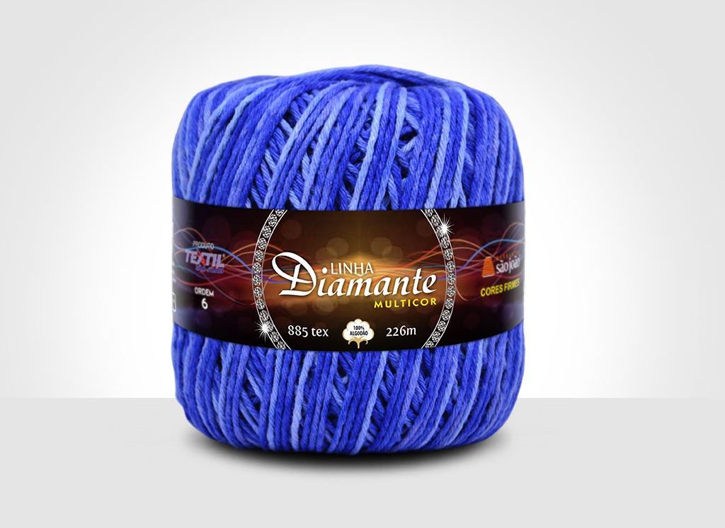 Barbantes para tricô e crochê Linha Diamante Multicor 4