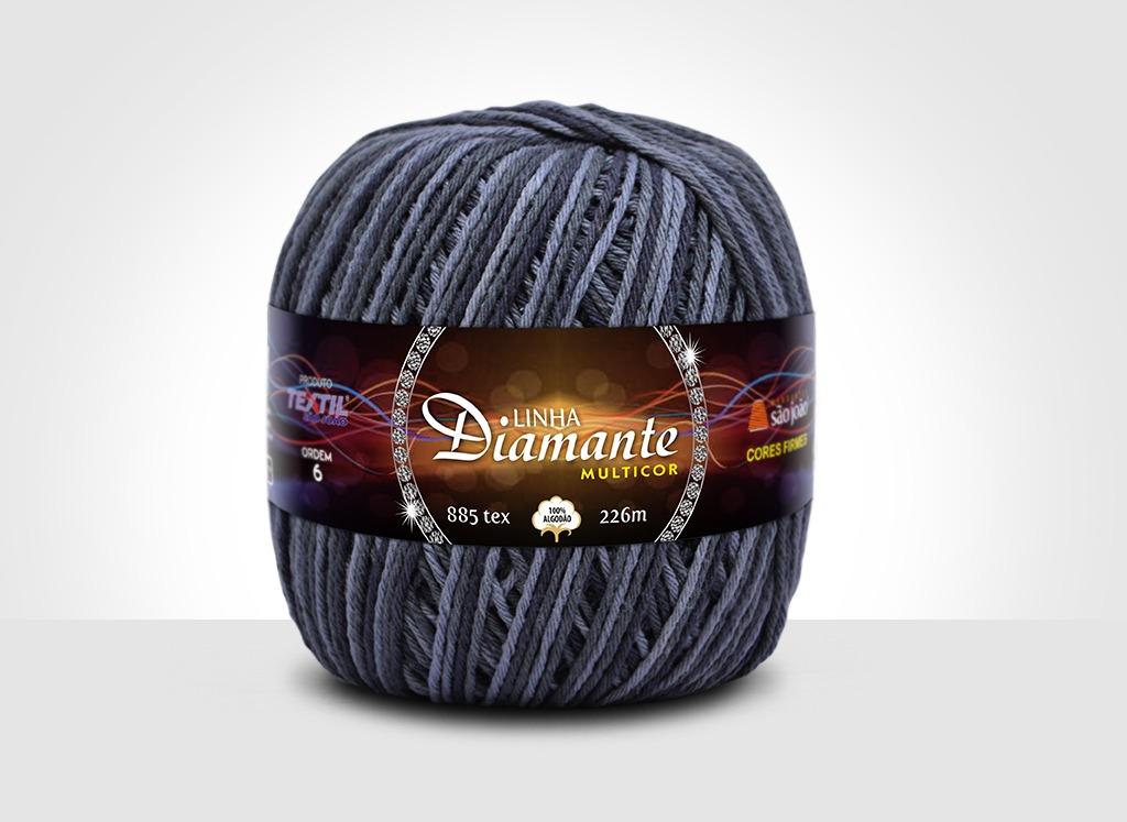 Barbantes para tricô e crochê Linha Diamante Multicor 5