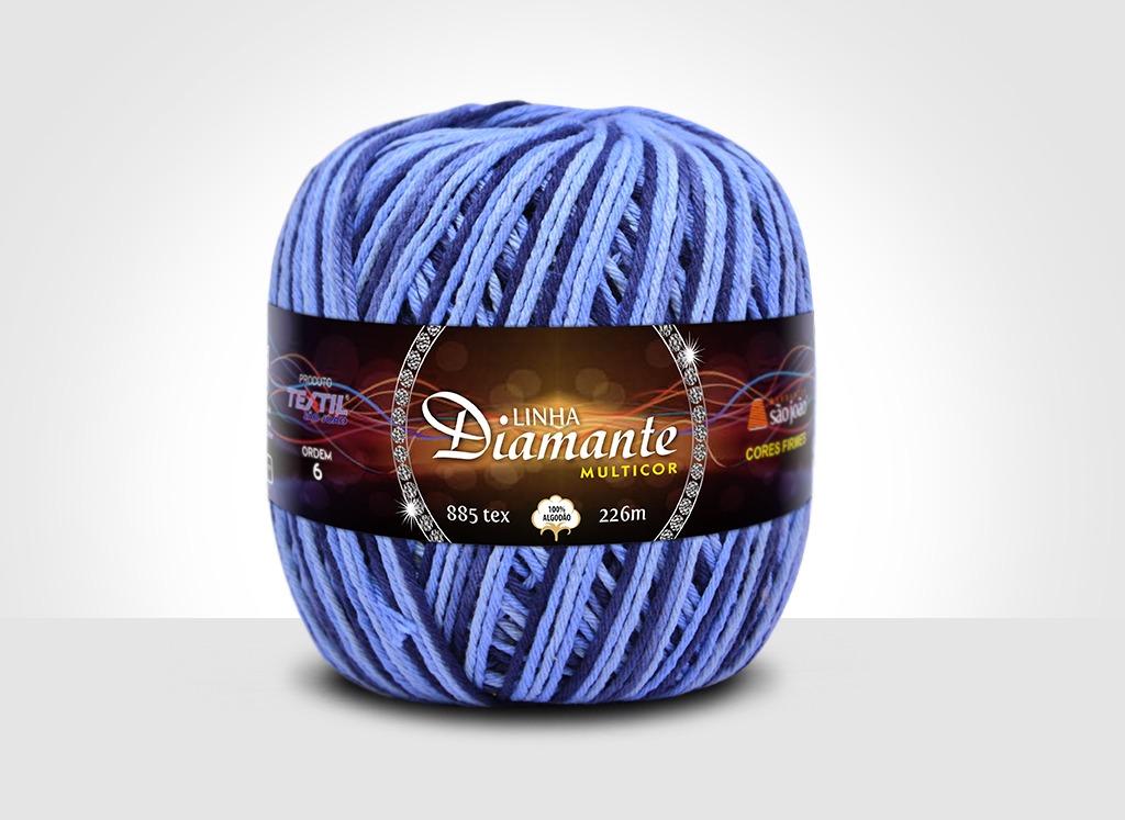 Barbantes para tricô e crochê Linha Diamante Multicor 6