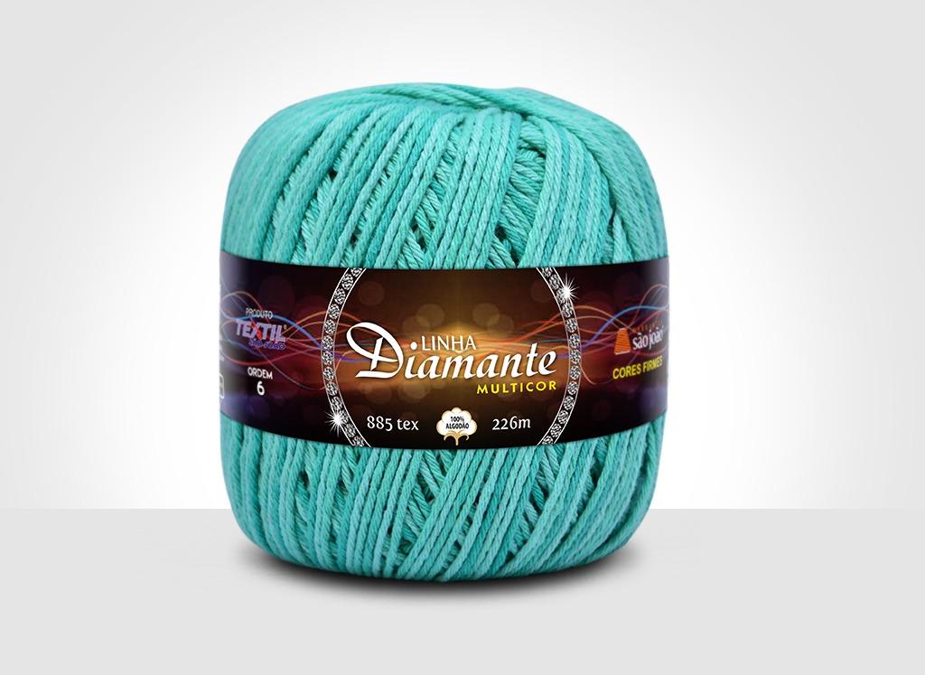 Barbantes para tricô e crochê Linha Diamante Multicor 8