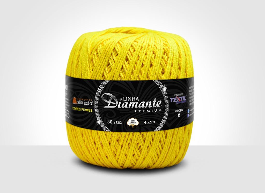 Barbantes para tricô e crochê Linha Diamante Premium Amarelo