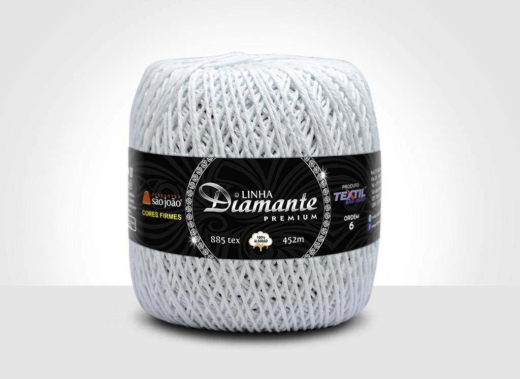 Barbantes para tricô e crochê Linha Diamante Premium Branco