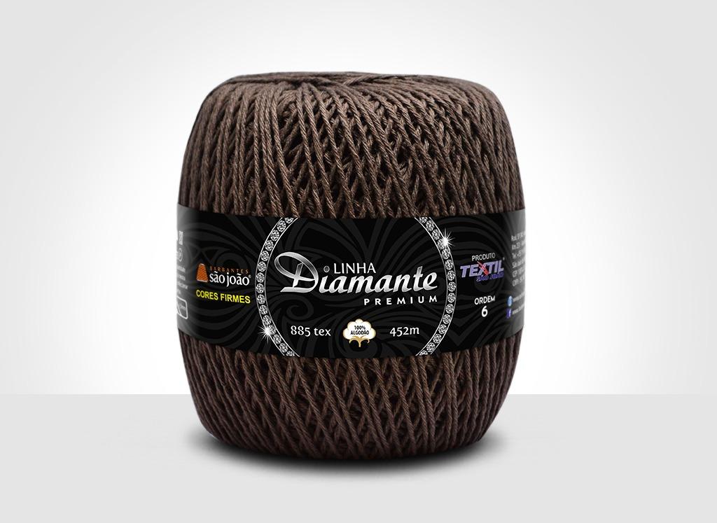Barbantes para tricô e crochê Linha Diamante Premium Café