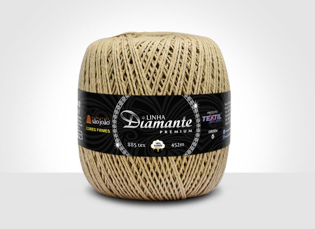Barbantes para tricô e crochê Linha Diamante Premium Caqui