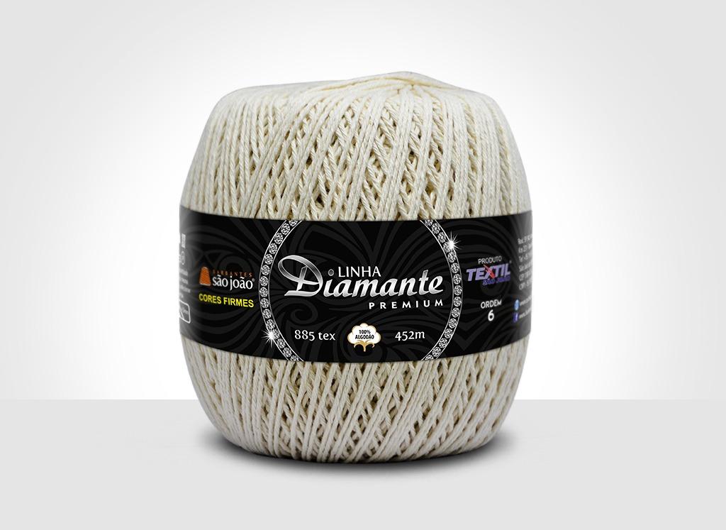 Barbantes para tricô e crochê Linha Diamante Premium Cru