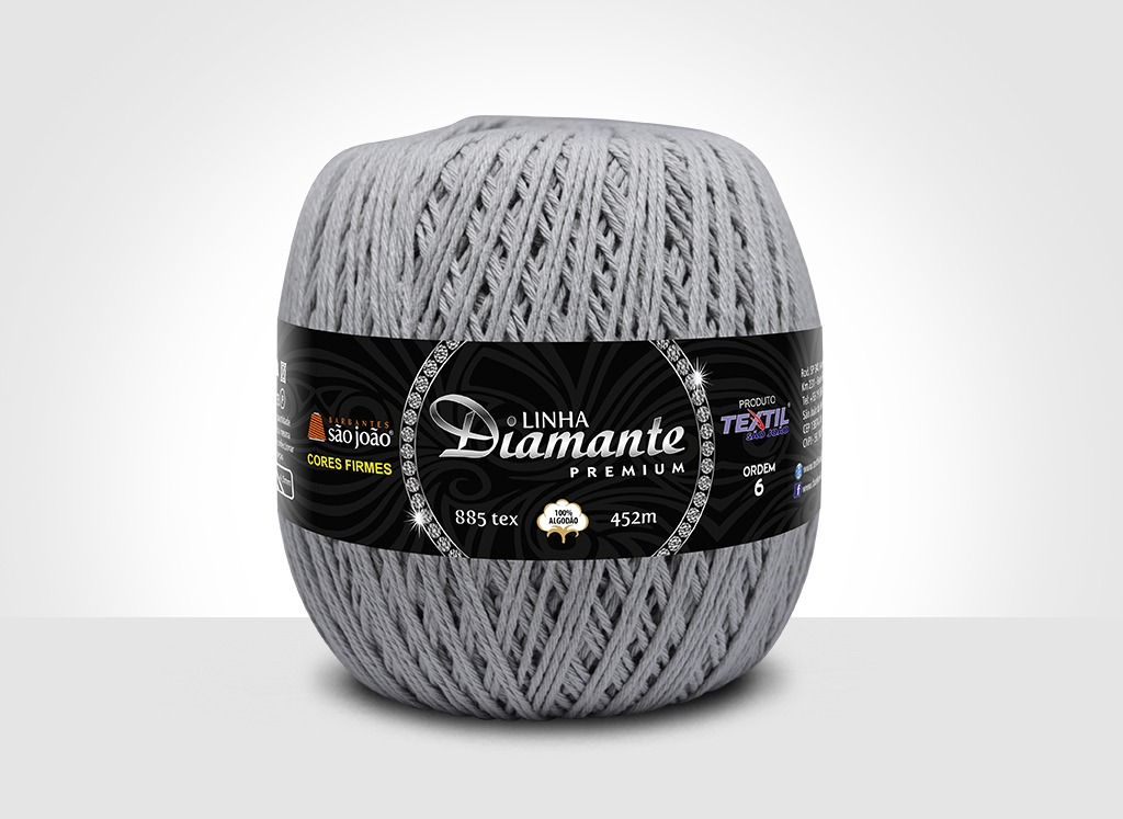 Barbantes para tricô e crochê Linha Diamante Premium Dove
