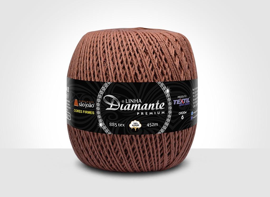 Barbantes para tricô e crochê Linha Diamante Premium Ferruginoso