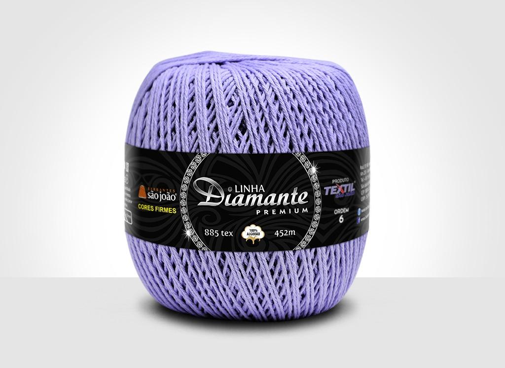 Barbantes para tricô e crochê Linha Diamante Premium Lilás