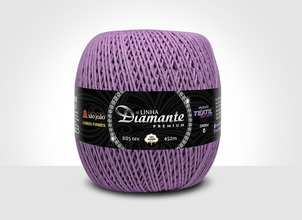 Barbantes para tricô e crochê Linha Diamante Premium Orquídea