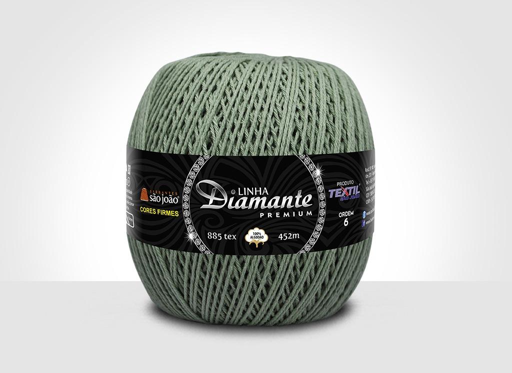 Barbantes para tricô e crochê Linha Diamante Premium Pistache