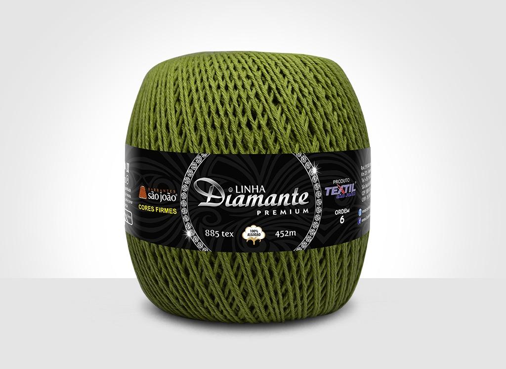 Barbantes para tricô e crochê Linha Diamante Premium Relva