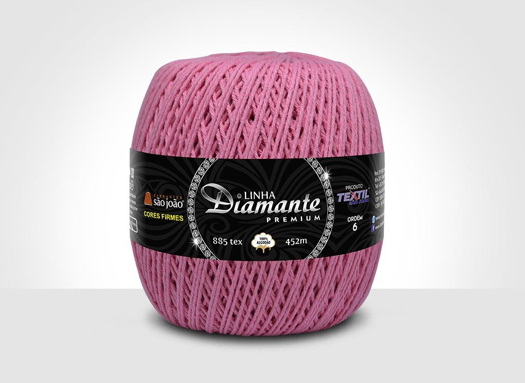 Barbantes para tricô e crochê Linha Diamante Premium Rosa