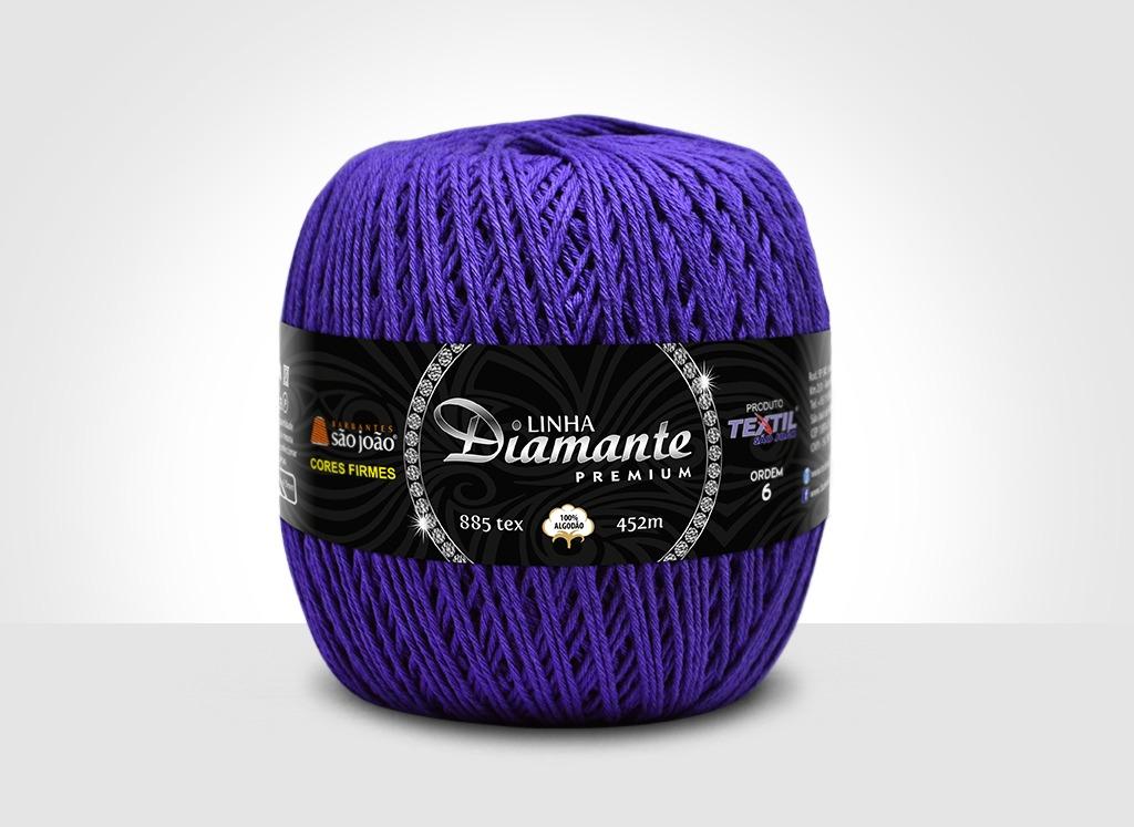 Barbantes para tricô e crochê Linha Diamante Premium Roxo