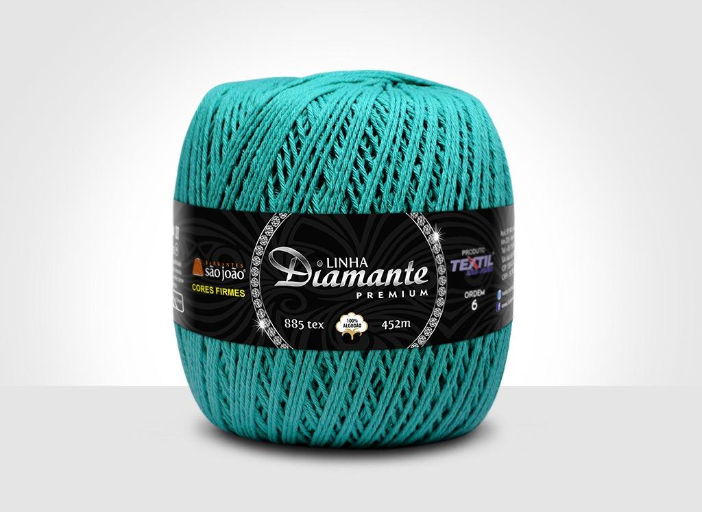 Barbantes para tricô e crochê Linha Diamante Premium Verde Água