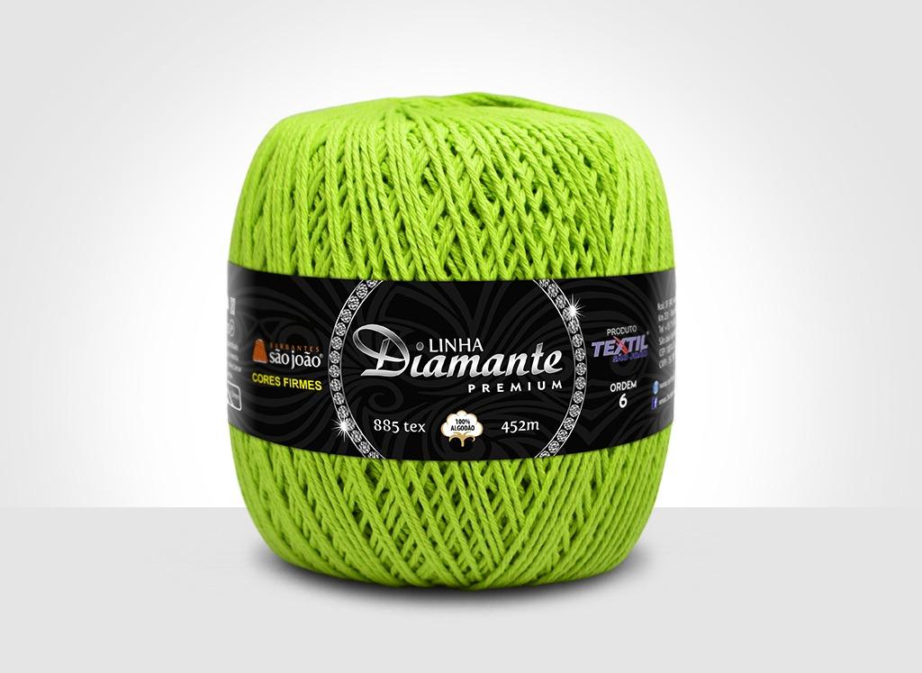 Barbantes para tricô e crochê Linha Diamante Premium Verde Citrus