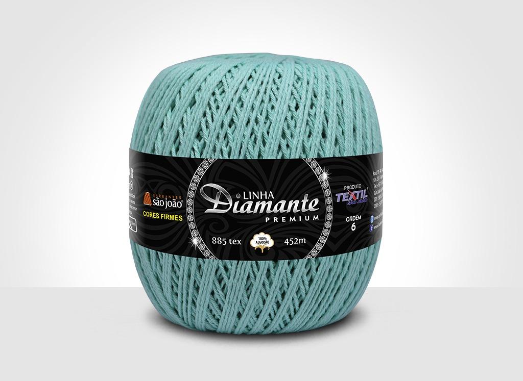Barbantes para tricô e crochê Linha Diamante Premium Verde mar