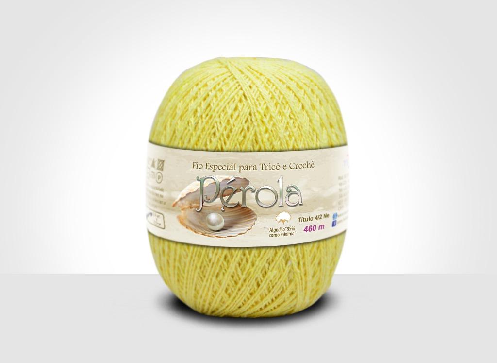 Linhas para tricô e crochê Linha Pérola Amarelo Claro