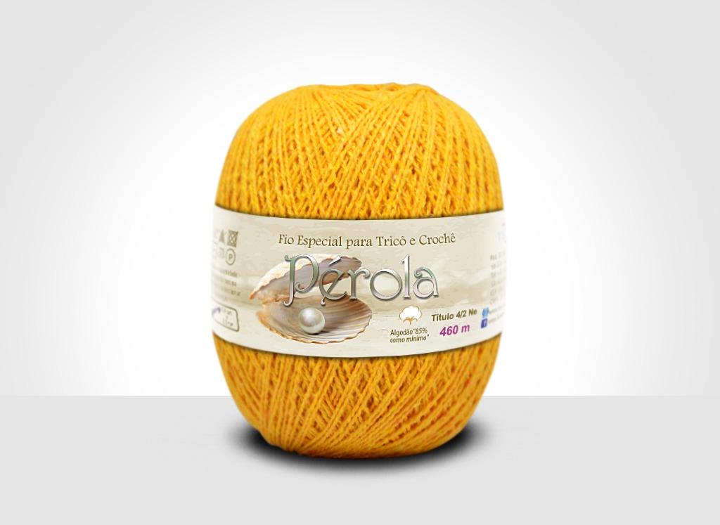 Linhas para tricô e crochê Linha Pérola Amarelo Ovo