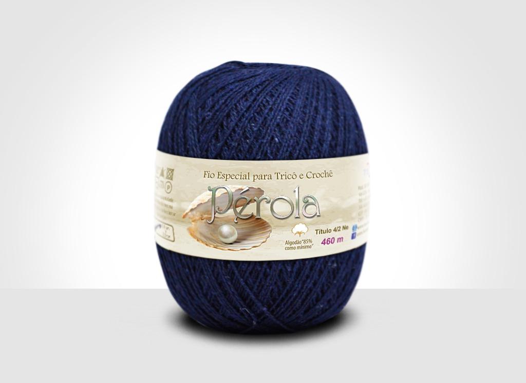 Linhas para tricô e crochê Linha Pérola Azul Marinho