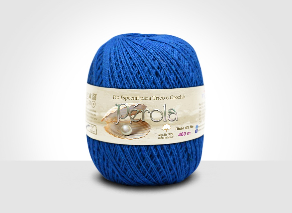 Linhas para tricô e crochê Linha Pérola Azul Royal
