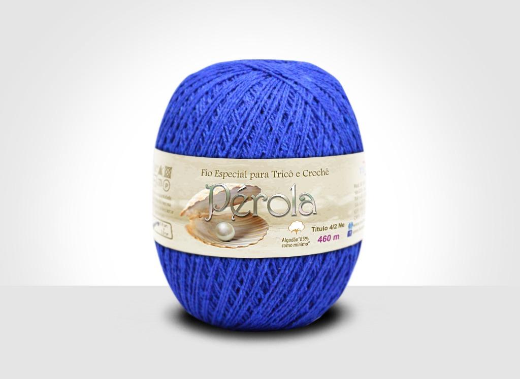 Linhas para tricô e crochê Linha Pérola Azul Turquesa
