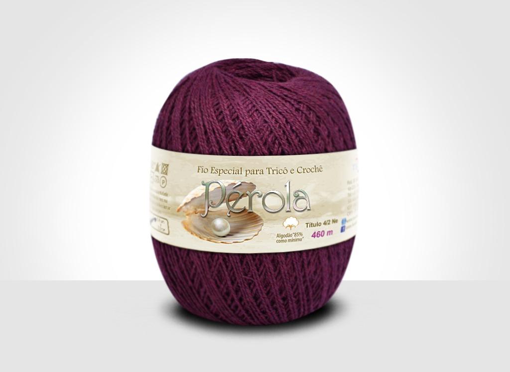 Linhas para tricô e crochê Linha Pérola Bordô