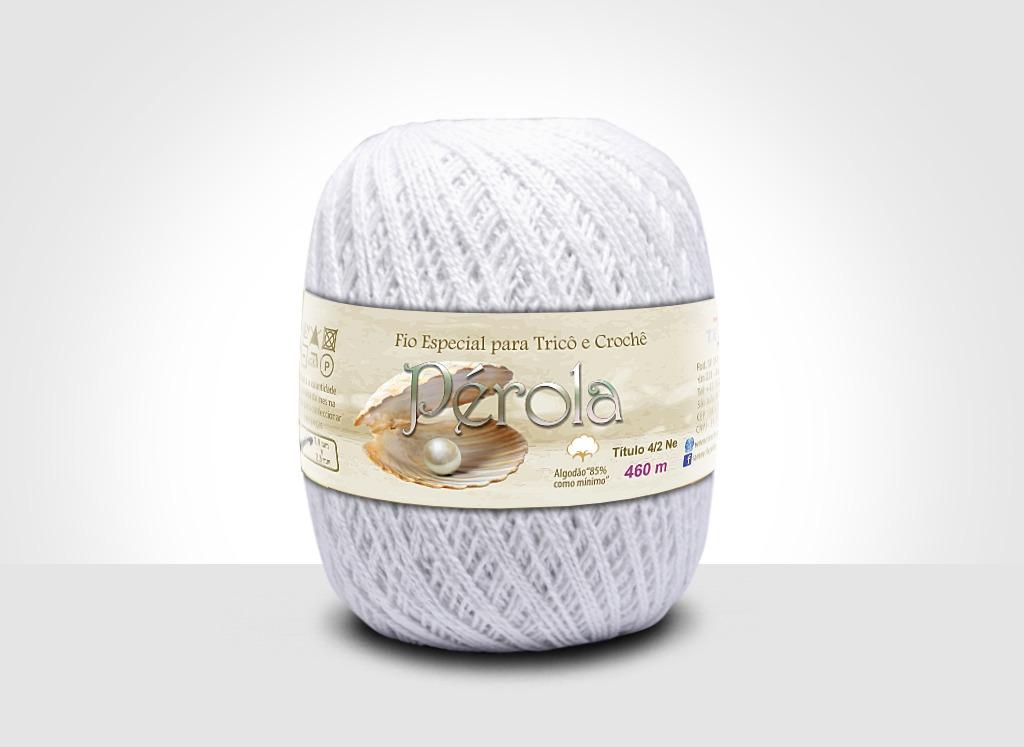 Linhas para tricô e crochê Linha Pérola Branco