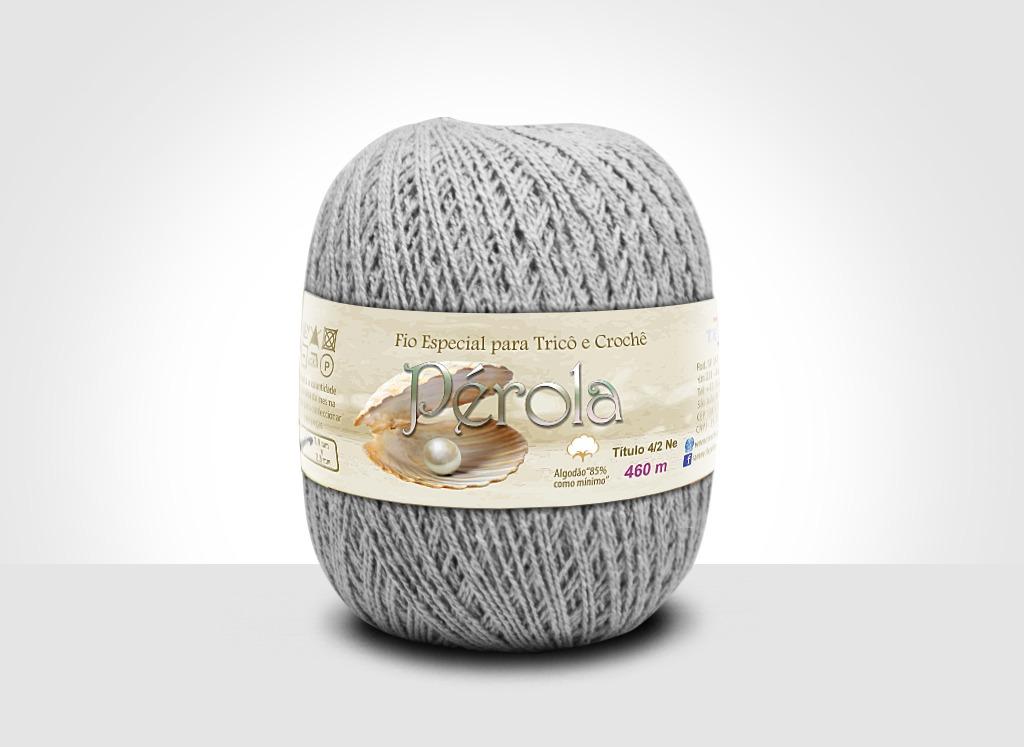 Linhas para tricô e crochê Linha Pérola Caqui