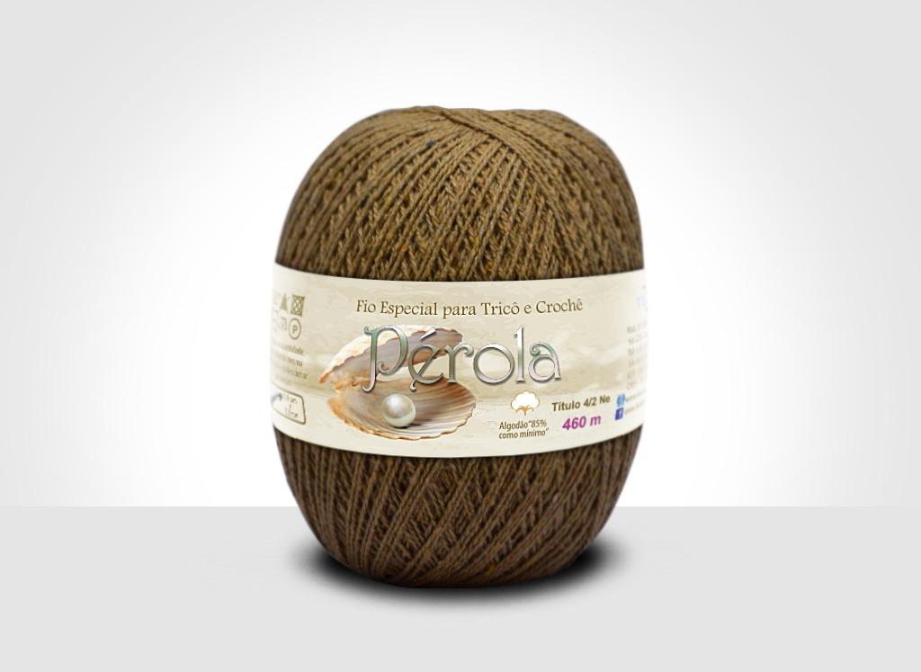 Linhas para tricô e crochê Linha Pérola Caramelo