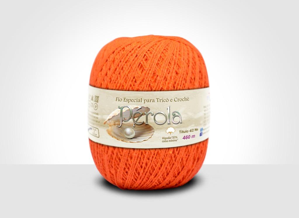 Linhas para tricô e crochê Linha Pérola Cenoura