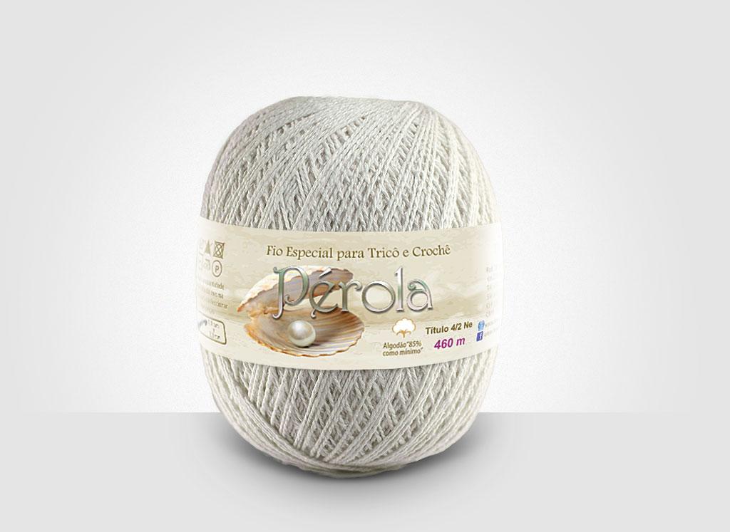 Linhas para tricô e crochê Linha Pérola Cru