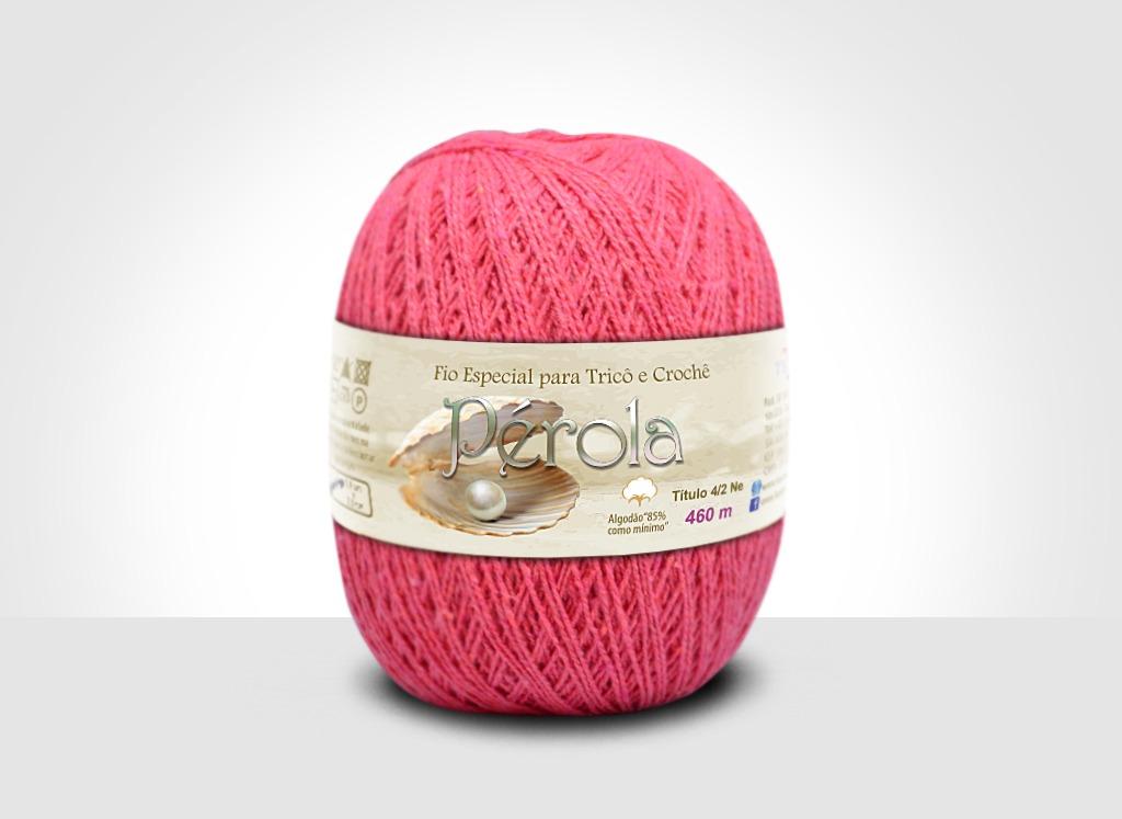 Linhas para tricô e crochê Linha Pérola Goiaba