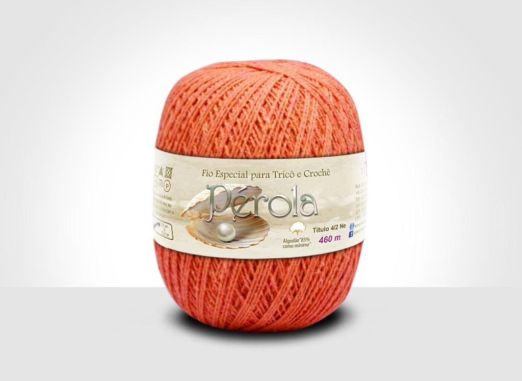 Linhas para tricô e crochê Linha Pérola Laranja