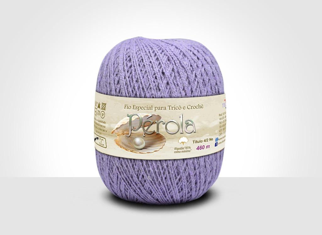 Linhas para tricô e crochê Linha Pérola Lilás