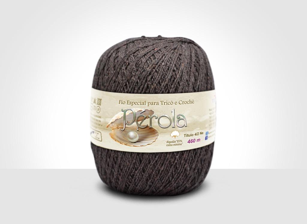 Linhas para tricô e crochê Linha Pérola Marrom