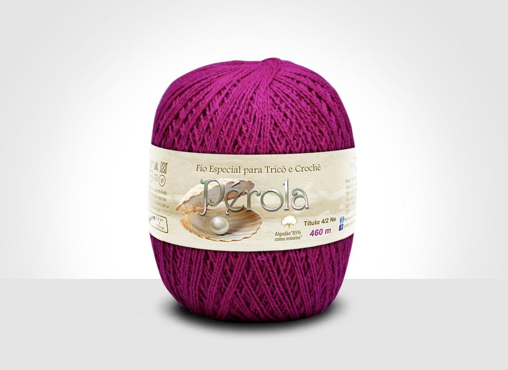 Linhas para tricô e crochê Linha Pérola Morango