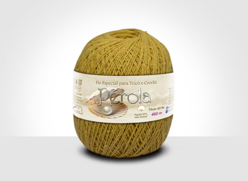 Linhas para tricô e crochê Linha Pérola Mostarda