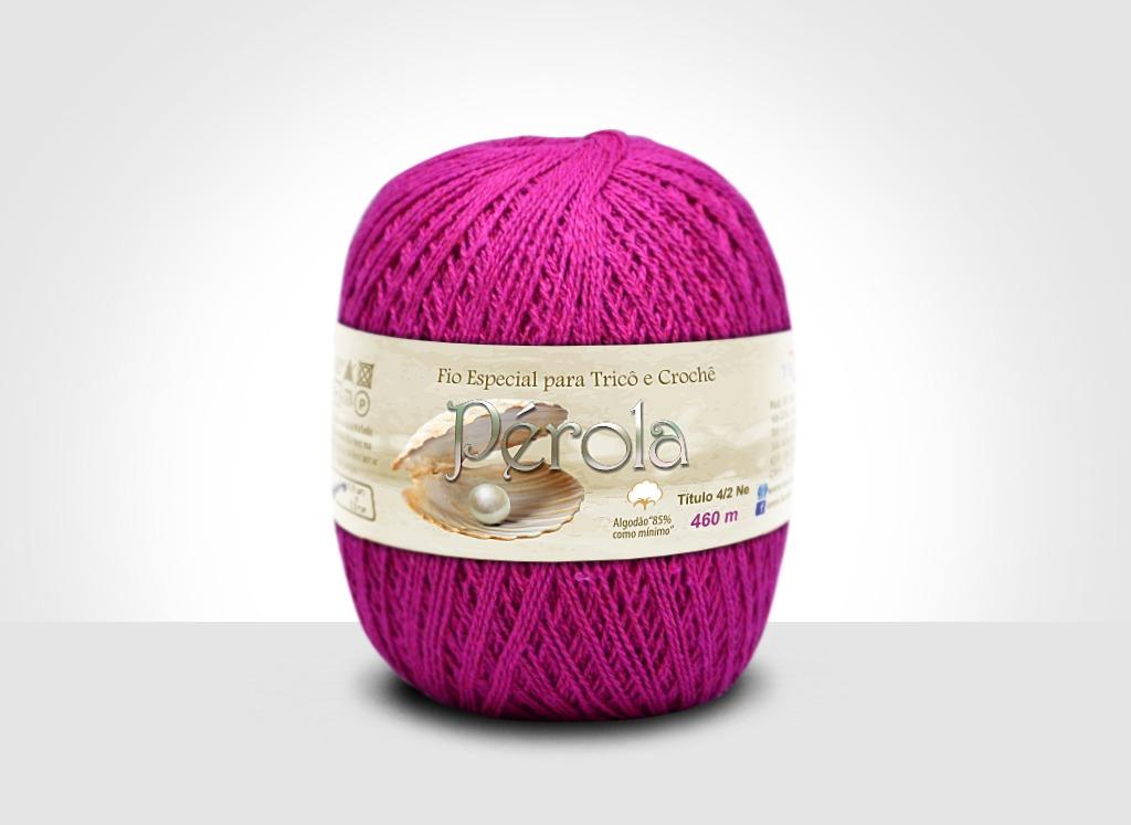Linhas para tricô e crochê Linha Pérola Pink