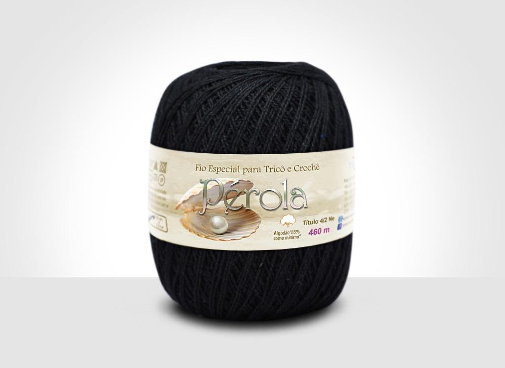 Linhas para tricô e crochê Linha Pérola Preto