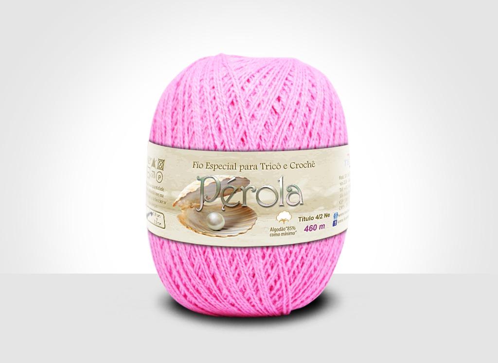 Linhas para tricô e crochê Linha Pérola Rosa Claro