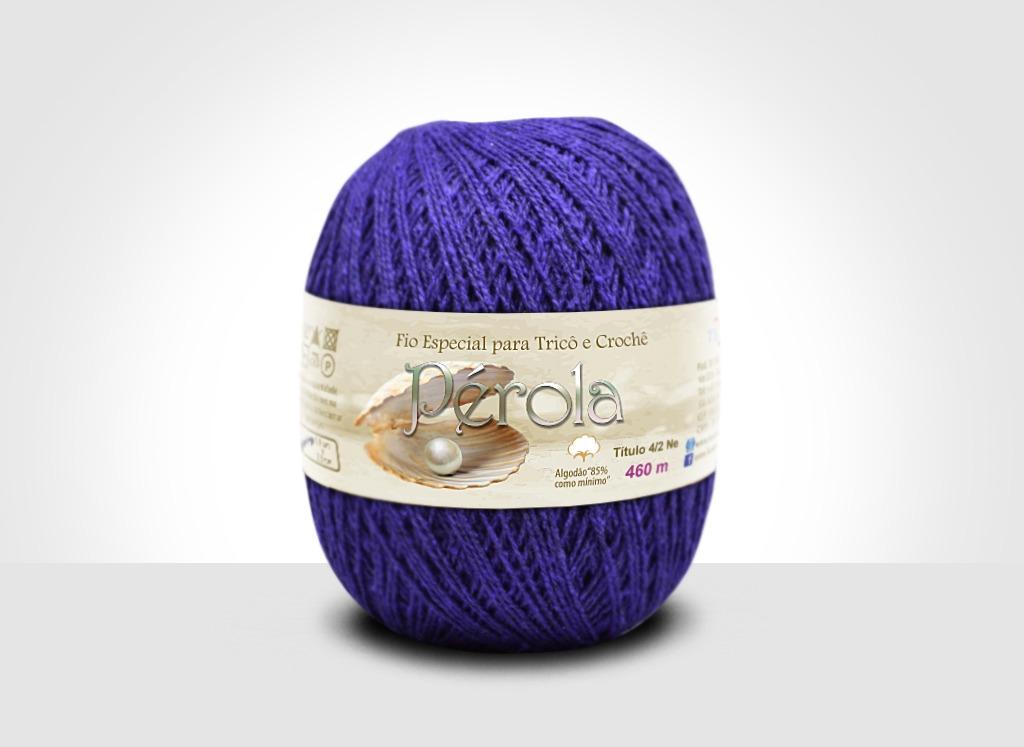 Linhas para tricô e crochê Linha Pérola Roxo