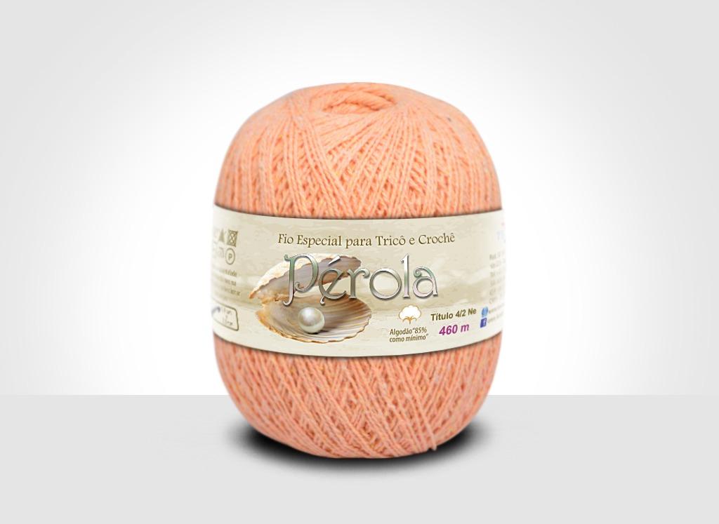 Linhas para tricô e crochê Linha Pérola Salmão