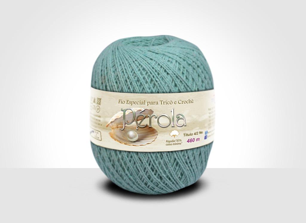 Linhas para tricô e crochê Linha Pérola Verde Água