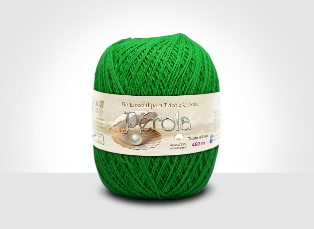 Linhas para tricô e crochê Linha Pérola Verde Bandeira