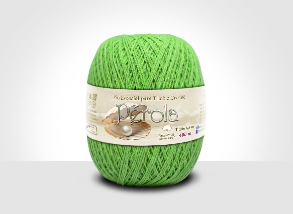 Linhas para tricô e crochê Linha Pérola Verde Limão