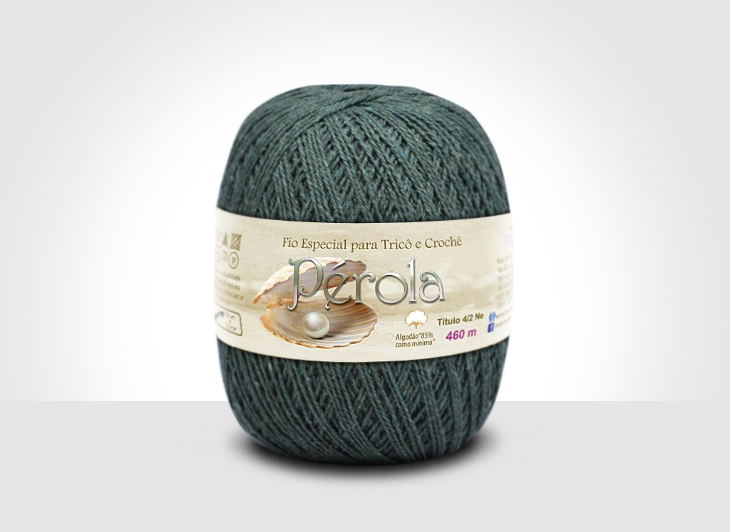 Linhas para tricô e crochê Linha Pérola Verde Musgo