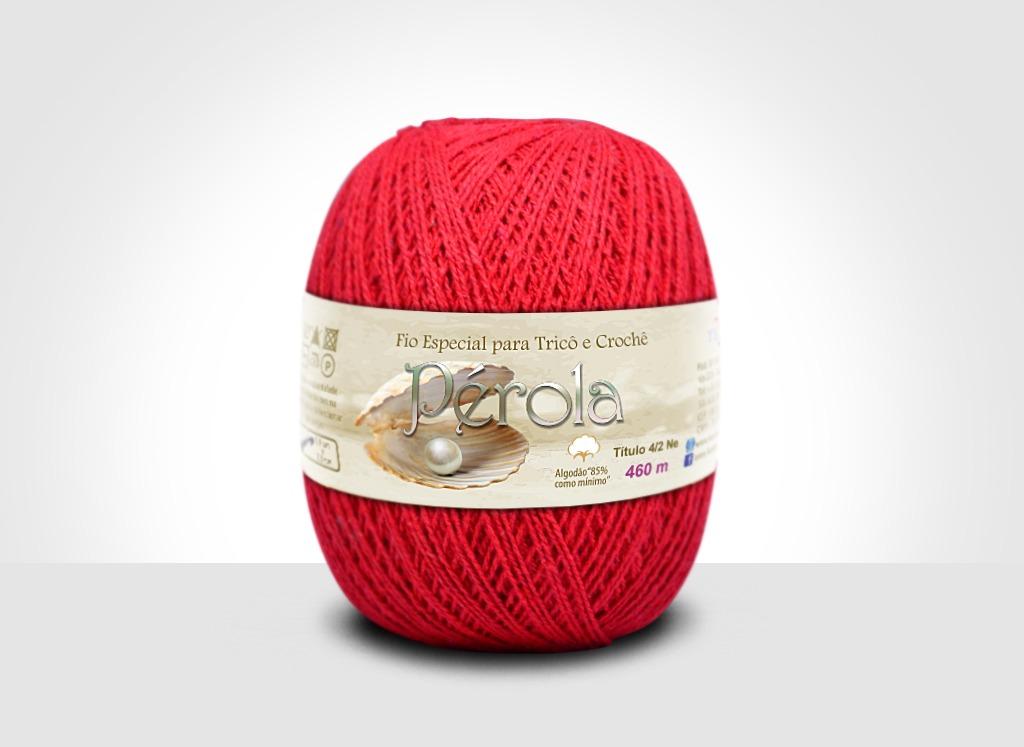 Linhas para tricô e crochê Linha Pérola Vermelho