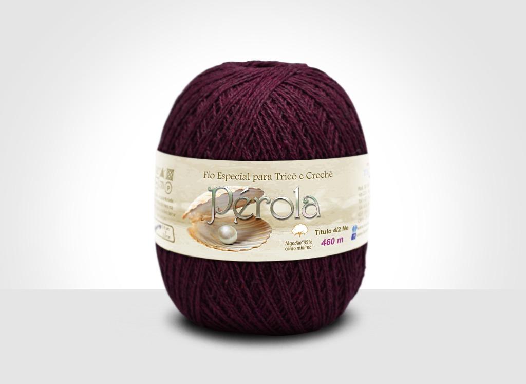 Linhas para tricô e crochê Linha Pérola Vinho