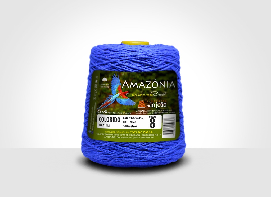 Barbantes para tricô e crochê Barbante Amazônia Azul Royal